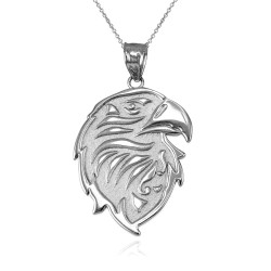 silver gold eagle necklace