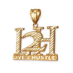Gold L2H hiphop pendant.