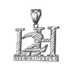 White gold L2H hiphop pendant.