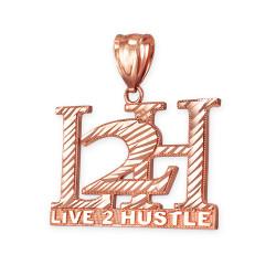Rose Gold L2H Hiphop Pendant.