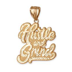 Gold hiphop pendant.