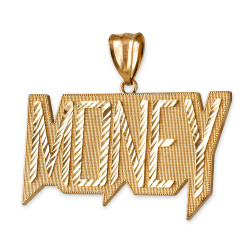 Yellow Gold MONEY Hip-Hop DC Pendant