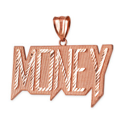 Rose Gold MONEY Hip-Hop DC Pendant