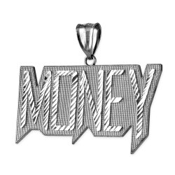 Sterling Silver MONEY Hip-Hop DC Pendant