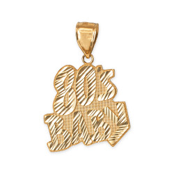 Yellow Gold 80's BABY Hip-Hop DC Pendant