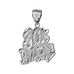 White Gold 80's BABY Hip-Hop DC Pendant