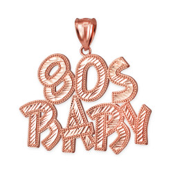 Rose Gold 80S BABY Hip-Hop DC Pendant