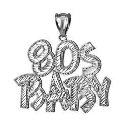 Sterling Silver 80S BABY Hip-Hop DC Pendant