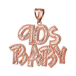 Rose Gold 90S BABY Hip-Hop DC Pendant