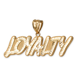 Yellow Gold LOYALTY Hip-Hop DC Pendant