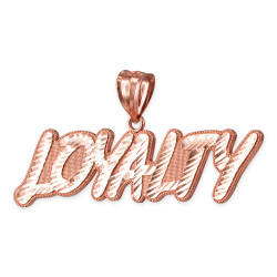 Rose Gold LOYALTY Hip-Hop DC Pendant