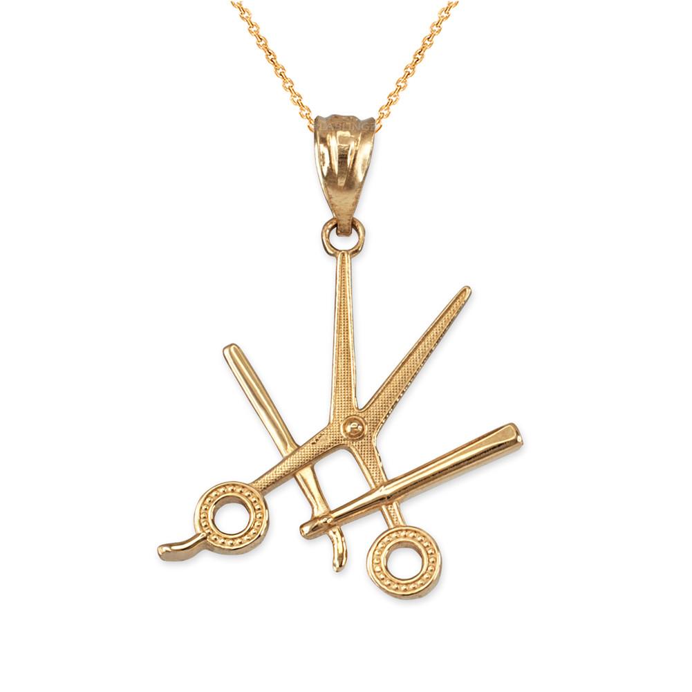5 bronze scissors pendant chain pendant metal pendant