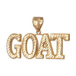 Yellow Gold GOAT Hip-Hop Pendant