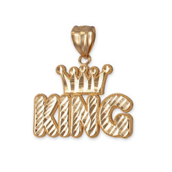 Yellow Gold Crown King Hip-Hop DC Pendant