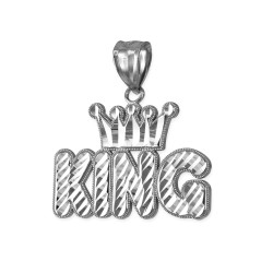 White Gold Crown King Hip-Hop DC Pendant