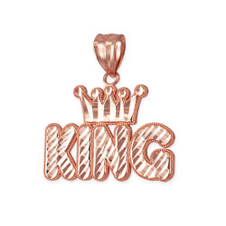 Rose Gold Crown King Hip-Hop DC Pendant