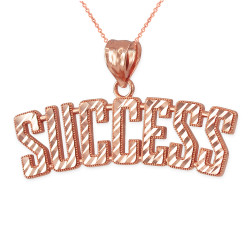 SUCCESS Rose Gold DC Pendant Necklace