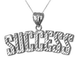 SUCCESS Sterling Silver DC Pendant Necklace