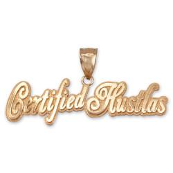 CERTIFIED HUSTLAS Hip-Hop Pendant in Yellow Gold
