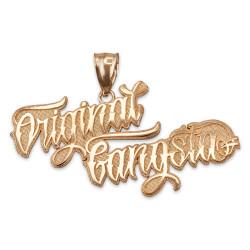 ORIGINAL GANGSTA Hip-Hop Pendant in Yellow Gold