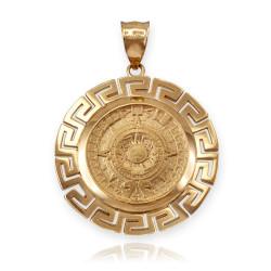 Gold Aztec pendant