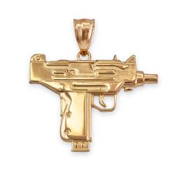 Gold UZI Gun Pendant