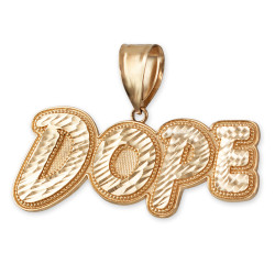 Dope Pendant in Yellow Gold.