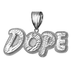 White Gold Dope Mens DC Pendant