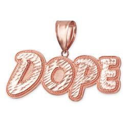 Rose Gold Dope Mens DC Pendant