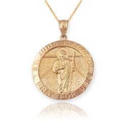 Yellow Gold St. Jude Thaddeus Pendant Necklace
