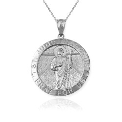 Sterling Silver St. Jude Thaddeus Pendant Necklace