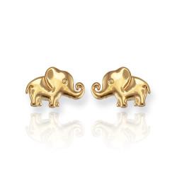 Gold Elephant Earrings