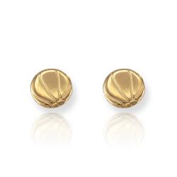 Gold Basketball Earrings