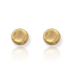 Gold Baseball Earrings
