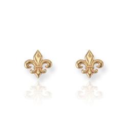 Gold Fleur-de-Lis Earrings