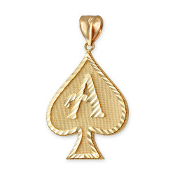 Gold Ace of Spades Pendant