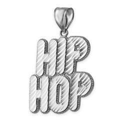 Sterling Silver Hip Hop DC Pendant