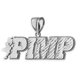 Sterling Silver Pimp Hip-Hop DC Pendant