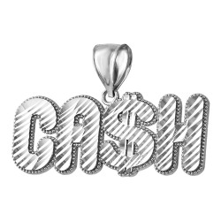 Sterling Silver Cash Hip-Hop DC Pendant