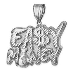 Sterling Silver EASY MONEY Cash Bag Hip-Hop DC Pendant