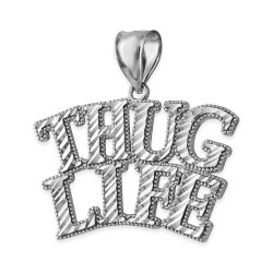 Sterling Silver THUG LIFE Hip-Hop DC Pendant