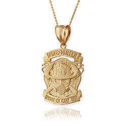 Gold Firefighter Necklace
