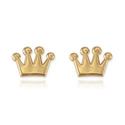 Gold Crown Earrings