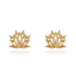 Gold Lotus Flower Yoga Earrings