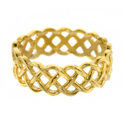14k Yellow Gold Celtic Weave Wedding Band