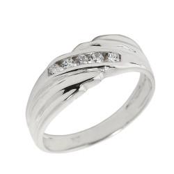 925 Sterling Silver Men's Diamond Wedding Band