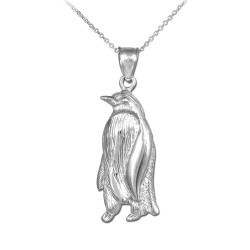 Sterling Silver Penguin Pendant Necklace