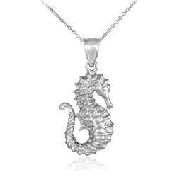 925 Sterling Silver Seahorse Pendant Necklace
