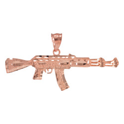 Rose Gold AK-47 Pendant