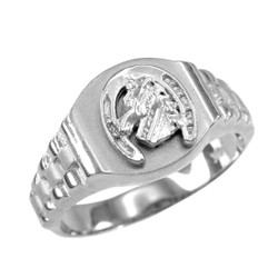 White Gold Horseshoe Ring